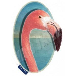 Van Ikke - Strijkapplicatie - Flamingo Close-up