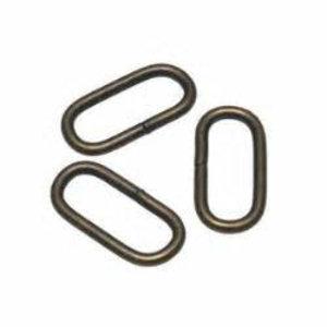 Metalen passant 25 mm brons
