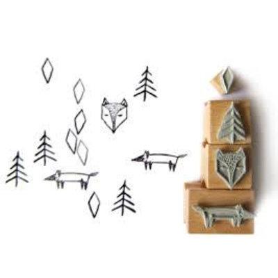 Stempelset - Nuukk - Fox in the forest