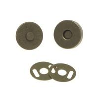 Magneetsluiting klein brons (14 mm)