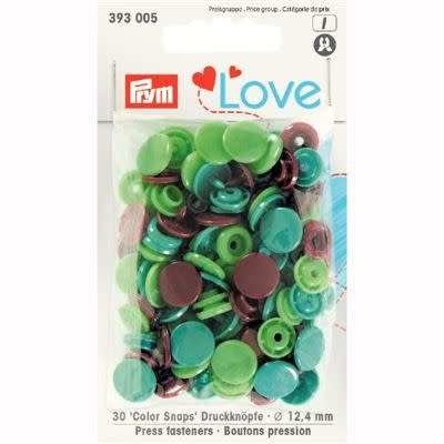 Prym - Love - Color Snaps (ass bruin-groen)