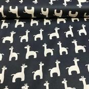Stretchkatoen - Giraffe black