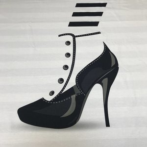 Tricotpaneel - High heels