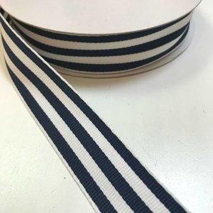 Ripslint - Marineblauw-witte strepen