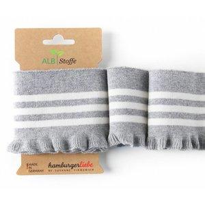 Albstoffe - Cuff me Frill - Grijs & wit