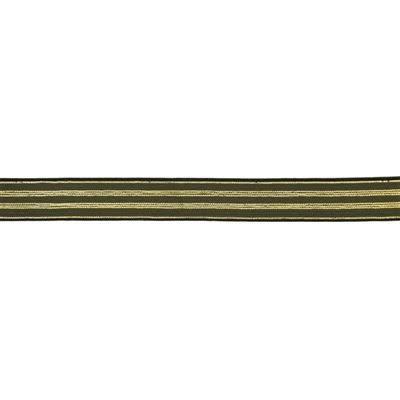 Elastische tailleband - Kaki-gouden strepen