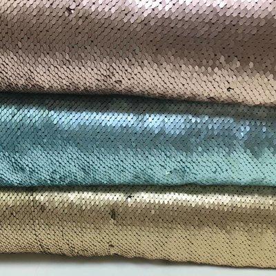 Paillettenstof - omkeerbare pailletten - Lichtblauw - zilver