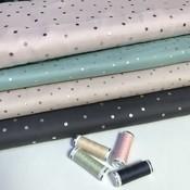 Grey dots hot foil - Katoen