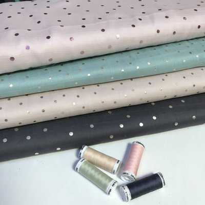 Rico Design - Pink dots hot foil - Katoen