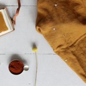 Atelier Brunette Stardust Ochre - Double Gauze - Atelier Brunette