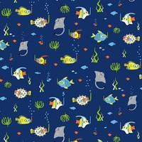 Timeless Treasures - Katoen - Timeless Treasures - Snorkeling Fish