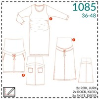 It's a fits - Patroon Zwangerschapsjurk/-rok - It's a fits (1085)