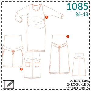 Patroon Zwangerschapsjurk/-rok - It's a fits (1085)