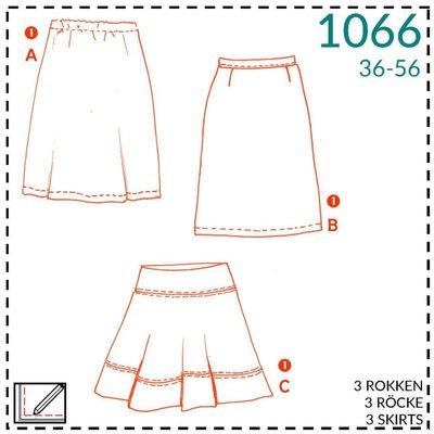 It's a fits - 1066 Patroon rok - It's a fits