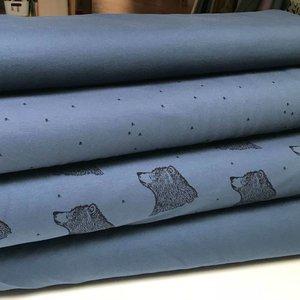 Boordstof (bio) - Bloome - Solid Dusty Blue