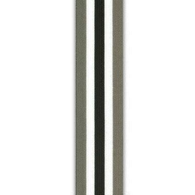 Elastische tailleband - Strepen grijs-zwart-wit (3,5 cm)
