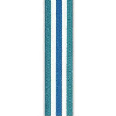 Elastische tailleband - Strepen blauw-wit (3,5 cm)