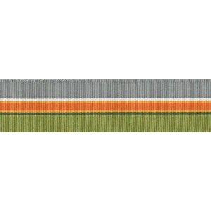 Ripslint - Gestreept oranje-grijs-groen