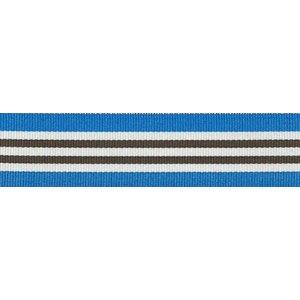 Ripslint - Blauw-wit-bruin gestreept