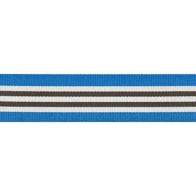 Ripslint - gestreept Blauw - wit - bruin