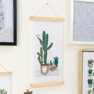 Borduurpakket - Cactussen wandversiering