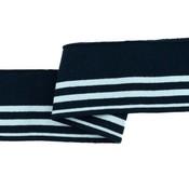 Cuff - Marine - lichtblauw gestreept