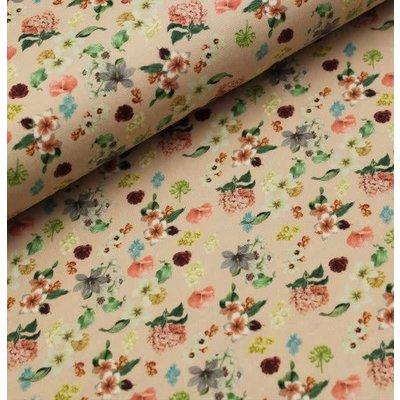 Megan Blue Fabrics - Garden Flowers - Tricot