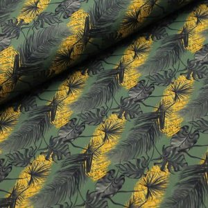 Megan Blue Fabrics - Golden Leaves - tricot