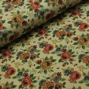 Megan Blue Fabrics - Embroidery Roses - tricot