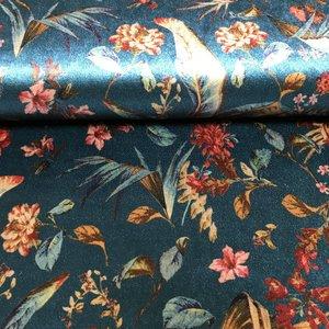 Hilco Fleurs blauw - Velvet