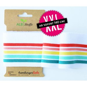 Albstoffe - Cuff me rainbow pastel
