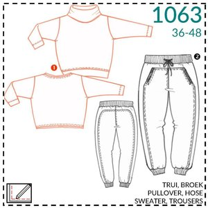 it's a fits Sweater en broek 1063 patroon - It's a fits