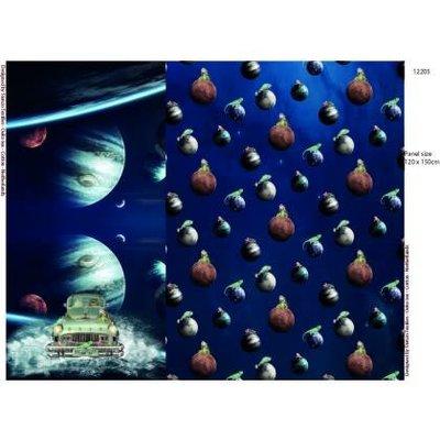 Tricotpaneel - In de ruimte