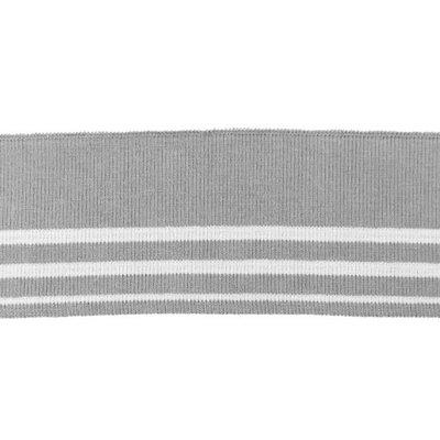 Cuff - Grijs - wit gestreept