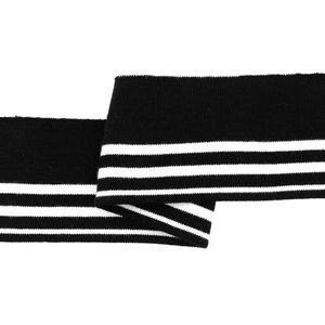 Cuff - Zwart - wit gestreept