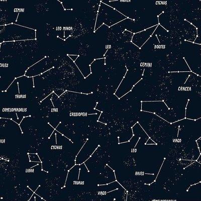 Timeless Treasures - Space - katoen - Glow in the dark