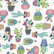 Timeless Treasures Cactus - katoen