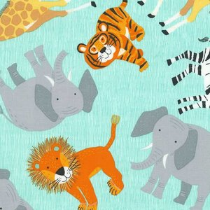 Timeless Treasures Jungle animals  - katoen