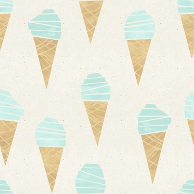 About Blue Fabrics - Ice Cream - French terry