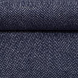 Wol - Visgraat - blauw
