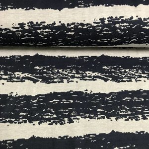 Sea Stripes Blue - Biojacquard