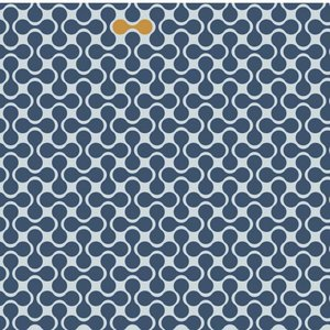 Retro magnet blauw - tricot