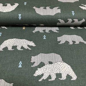 Cretonne bear - groen - Katoen
