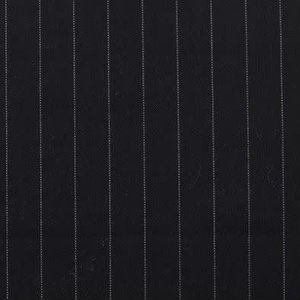 Stretch gabardine - Pinstripe Big - Zwart