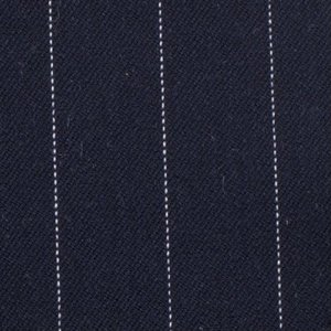 Stretch gabardine - Pinstripe Big Blauw