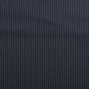 Stretch Gabardine - Pinstripe small - Blauw
