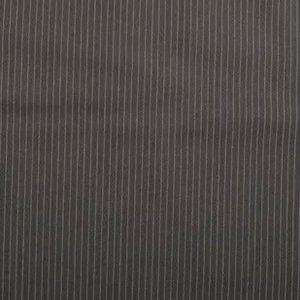 Stretch Gabardine - Pinstripe small - Donkergrijs