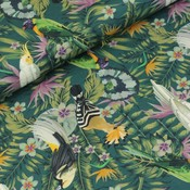 Megan Blue Fabrics Birds in the jungle - Tricot