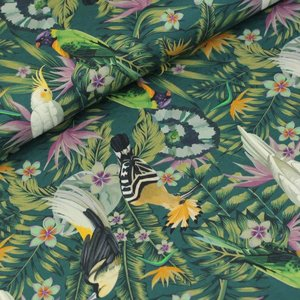 Megan Blue Fabrics - Birds in the jungle - Tricot