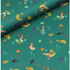 Megan Blue Fabrics Tiny Birds - Tricot
